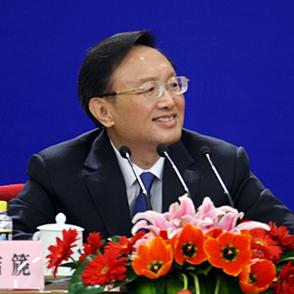 外交部部长杨洁篪微笑应对