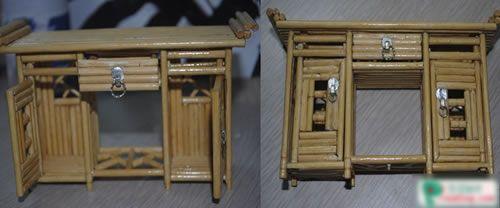 diy:一次性筷子制作仿古小家具(组图)