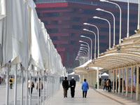 Комплекс сооружений «Ось ЭКСПО» является сочетанием технологий и искусства