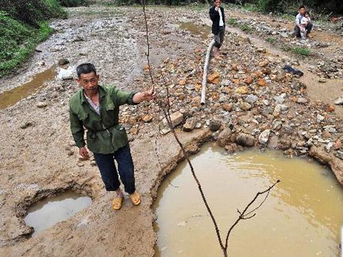 组图:特大暴雨造成广西融安农田受损严重
