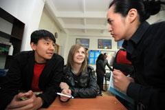 了解学生学习汉语情况
