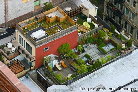 纽约城 纽约 楼顶/纽约大楼楼顶的秘密花园