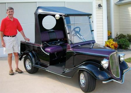 1930年的老汽车改装的高尔夫球车-创意高尔夫球车高清图片