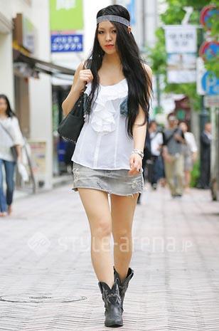 夏季长裙子-日本夏日街头 长裙长到地vs短裙短到腰