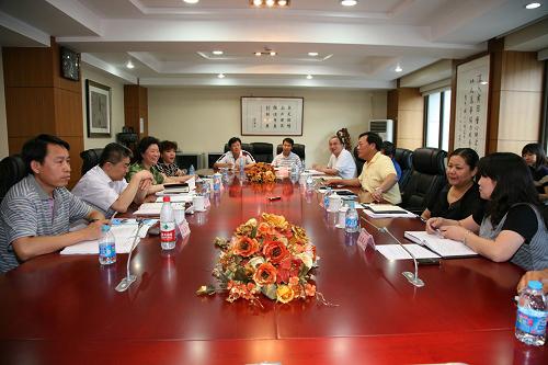 北京人口计生委一行到人发中心参观学习