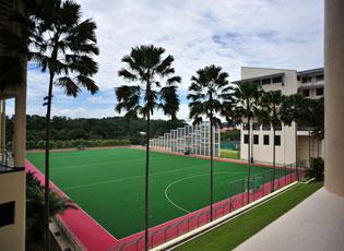 青奥村中的曲棍球训练场