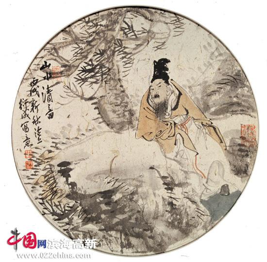 国画名家刘皓作品:山水清音