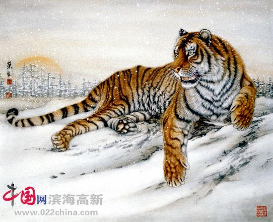 组图:墨缘2010五画家展天津图书大厦开展