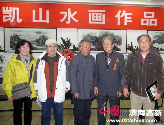 赵兵凯先生与画家,左起王美芳、赵国经、阮克敏、郭书仁合影