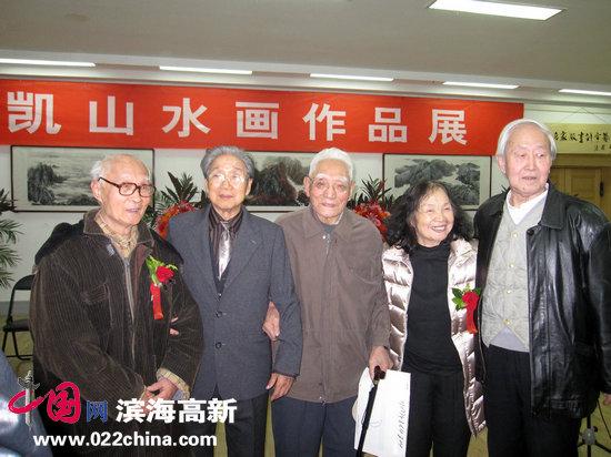 赵兵凯先生(左二)与李宾声(右一)、何正慈(右二)、张道粱(右三)