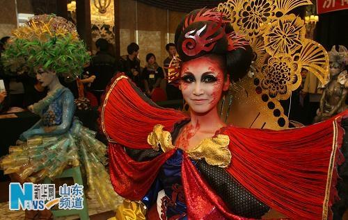 济南举行美容美发美甲手模大赛_中国网图片
