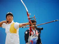 亚运会射箭决赛 韩国队胜出