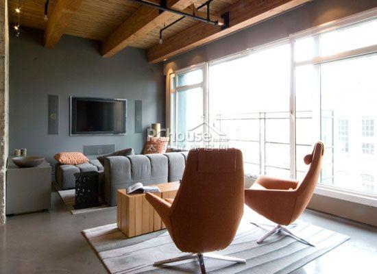 加拿大單身公寓客廳設計
