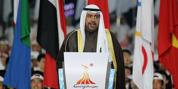 艾哈迈德亲王宣布第十六届亚运会闭幕[高清]