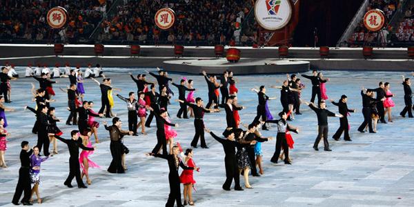 2010广州亚残运动会闭幕式热场表演开始[高清]