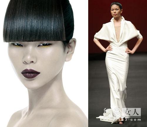 蜚声国际中国名模 个个皆是丹凤眼吕燕-名扬海外的中国超模 个个都是