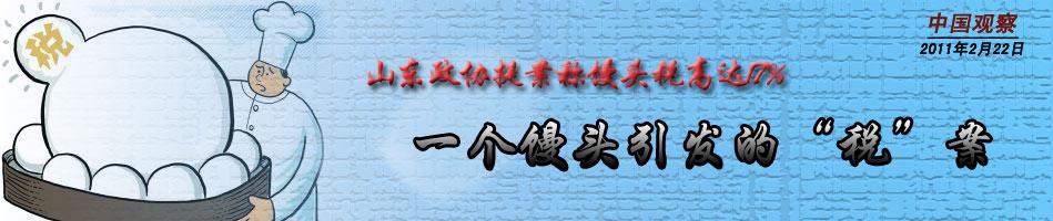 """[中国观察]一个馒头引发的""""税""""案"""