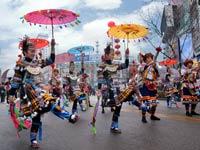 吹芦笙着盛装 迎接新春庆盛会[组图]