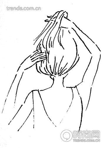 古典中分盘发打造最浪漫唯美新娘look(组图) 发型打造详细步骤帮你一
