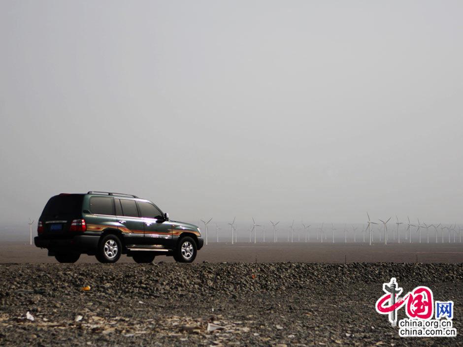 蔚为壮观的新疆风电风车群