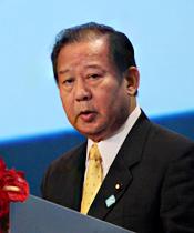 日本前经济产业大臣二階俊博发表演讲