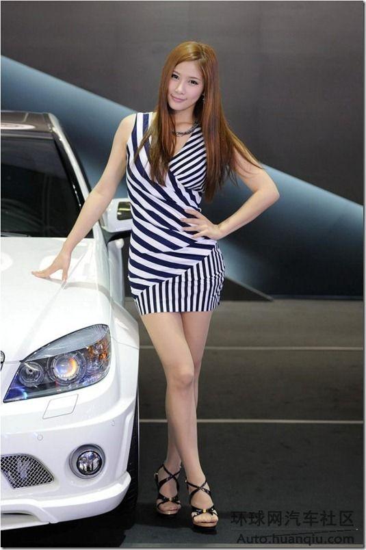 百变韩国美女车模 中国网