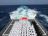 中国海军第八批护航编队首次反海盗综合演练[组图]