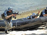 中国海军第七批护航编队与坦桑尼亚海军联合训练