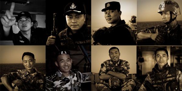 影像记录:中国海军护航编队队员肖像[高清]