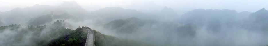 云山雾绕金山岭