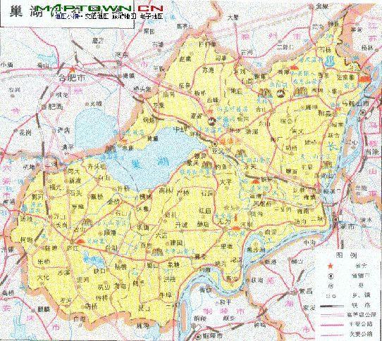 安微巢湖地图高清版