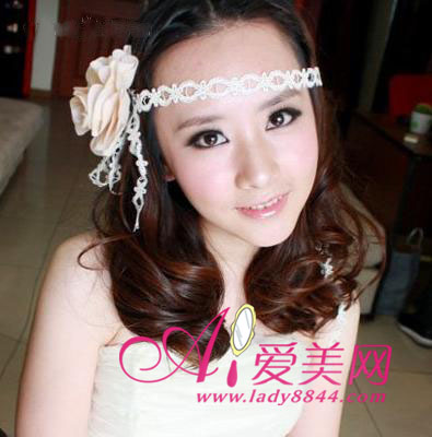 清新长发 最新韩国新娘发型