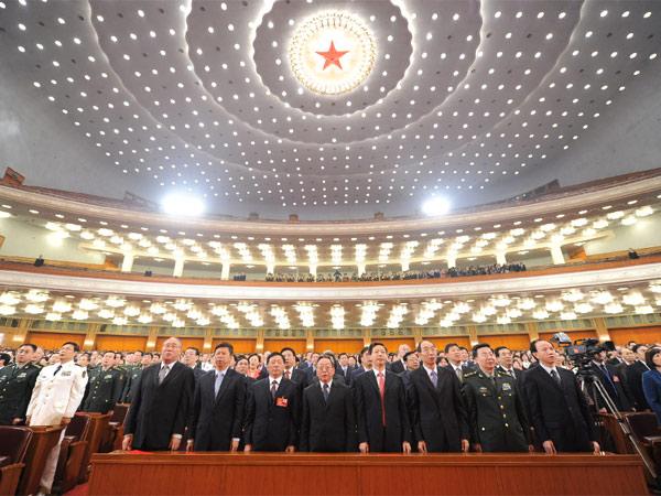 纪念 辛亥革命 100 周年 大 会在 北京 人民 大 会