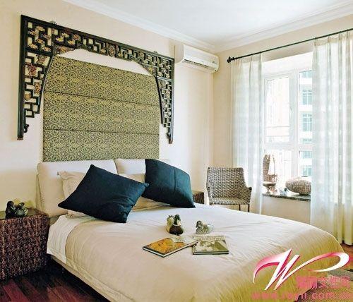 镂空与软包效果背景墙-年轻范儿 非你莫属的床头风景图片