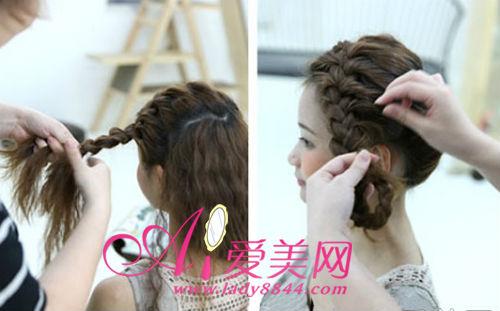 时尚编发发型 三种盘发的扎法图解(组图)
