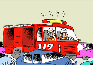 有漫画将簋街消防车遭上网拍成言情传抢行视频网友中国图片