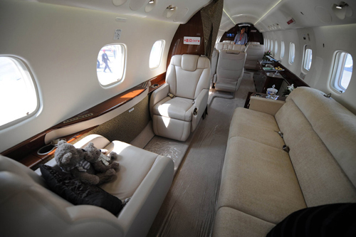 私人飞机内饰