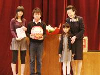 福田首相夫人访问北京日本人学校[组图]