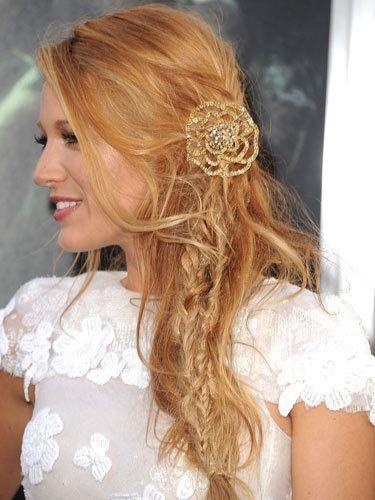 麻花辫的新娘 跟欧美明星学新娘发型灵感