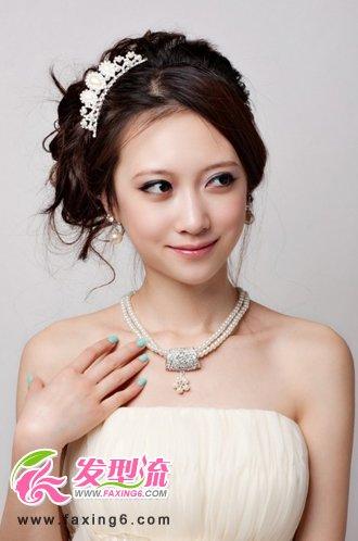 韩式新娘发型-俏丽新娘 公主盘发唯美迷人