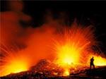 近距熔岩爆發拍攝圖賞