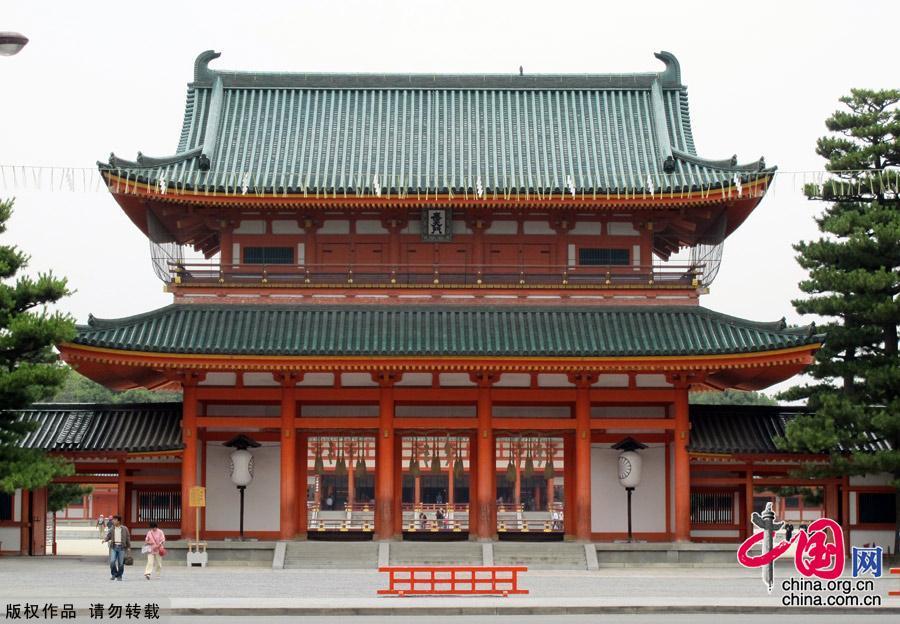 古风手绘寺庙图