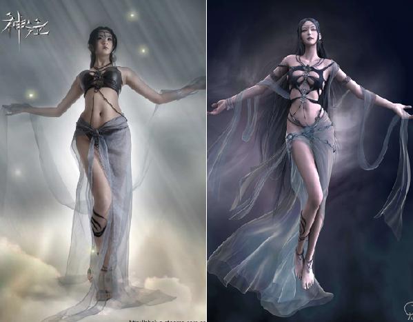 游戏女角与现实美女对决!谁是绝对的完美?