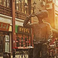 明清风格的天津市鼓楼东街商业街