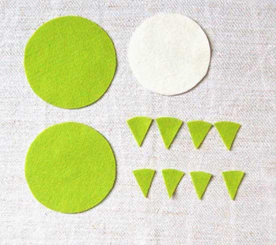 两个同等尺寸的圆形,备用.-旧物品再利用 DIY3款实用的家居小摆设