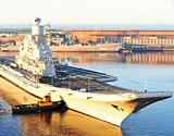 印度海军二手俄制航母海试新图亮相