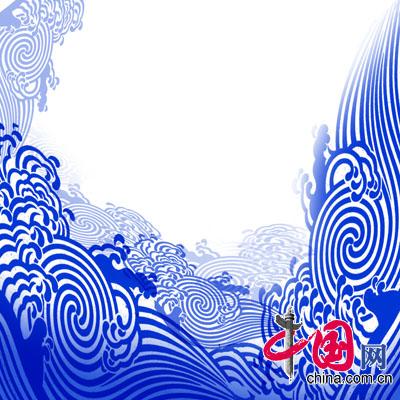 21号选手汪园来自湖北省武汉纺织大学作品《碧波清澜》效果图