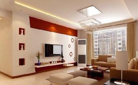 客厅电视机背景墙 令家居装修优雅大气(图)