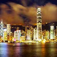 """""""东方之珠""""--香港维多利亚港夜景"""