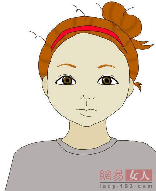 化妆前后对比 韩国女生化妆过程卡通图解(图)